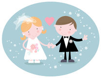 Cute Wedding Couple Royalty Free Stock Image