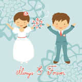 Cute wedding couple Royalty Free Stock Photography