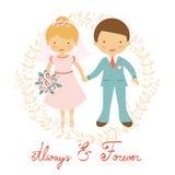 Cute wedding couple Stock Photo