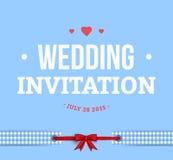 Cute Wedding Invitation Card Stock Photo