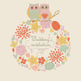 Cute wedding invitation Royalty Free Stock Photo