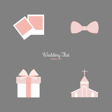 Cute Wedding Objects Royalty Free Stock Images