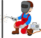 Cute Welder cartoon. Illustration of cute Welder cartoon Royalty Free Stock Photos