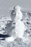 Cute well formed winter snowman Stock Photo