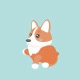 Cute welsh corgi dog. Cute welsh corgi dog  illustration Royalty Free Stock Image