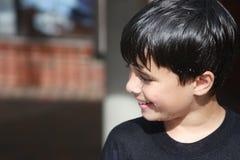 Cute, Wet Summer Boy Stock Image