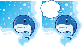 Cute Whale Stock Image