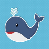 Cute whale baby icon Stock Images