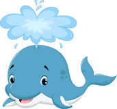 Cute whale cartoon Stock Photo