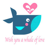 Cute whale swimming in the sea Royalty Free Stock Photo