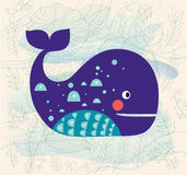 Cute whale Royalty Free Stock Images