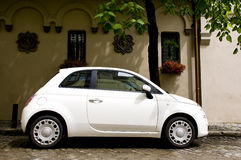 Cute white car Royalty Free Stock Image