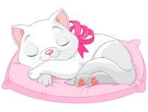 Cute white cat stock illustration