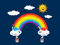 Rainbow paint royalty free illustration