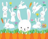 Free Cute White Easter Bunny Rabbit Vector Illustration Stock Photo - 106618780