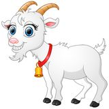 Cute White Goat Cartoon Stock Images