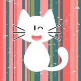 Cute white kitty Royalty Free Stock Photos