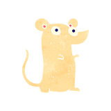 Cute white mouse retro cartoon Royalty Free Stock Image