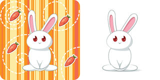 Cute white rabbit Royalty Free Stock Photography