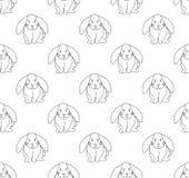 Cute White Rabbit Seamless Background. Vector Illustration. Cute White Rabbit Seamless Background. Vector Illustration Stock Photo