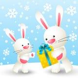 Cute white rabbits Royalty Free Stock Photos