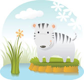 Cute White Tiger. Illustration of Cute White Tiger Royalty Free Stock Photos