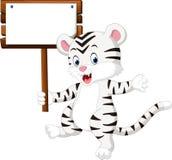 Cute white tiger cartoon Royalty Free Stock Photo