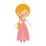 Cute wife avatar character. Vector illustration design Royalty Free Stock Photography