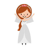Cute wife avatar character. Vector illustration design Royalty Free Stock Image