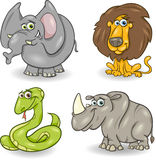 Cute wild animals set Stock Image