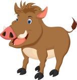 Cute wild boar cartoon. Illustration of cute wild boar cartoon Royalty Free Stock Image