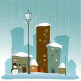 Cute winter background stock illustration