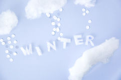Cute winter background Royalty Free Stock Image