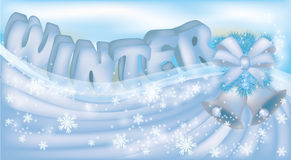 Cute winter banner Stock Image