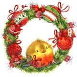 Cute winter bird. Christmas card. New year watercolor llustration. Cute winter bird. Christmas card. New year watercolor hand drawn illustration vector illustration