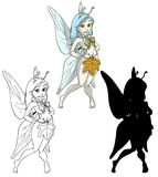 Cute winter fairy. Clipping path included Stock Image