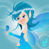 Cute winter fairy illustration Stock Image