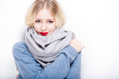 Cute winter fashion girl. Royalty Free Stock Photo
