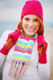 Cute winter girl Stock Image