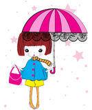 Cute winter girl Royalty Free Stock Images