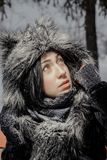 Cute winter girl royalty free stock image