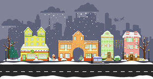 Cute winter houses Royalty Free Stock Photography