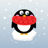 Cute winter penguin on sparkling iceberg Stock Image