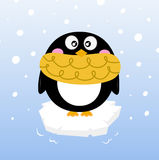 Cute winter penguin on sparkling iceberg Royalty Free Stock Photo