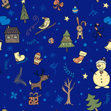 Cute winter seamless pattern Royalty Free Stock Image