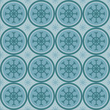 Cute winter snowflakes pattern Stock Photo