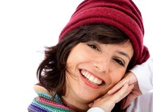 Cute winter woman Stock Images