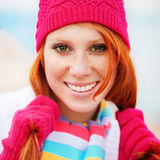 Cute winter woman Royalty Free Stock Photos