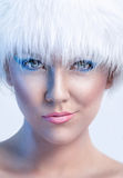 Cute winter woman Royalty Free Stock Images