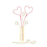 Cute wire hearts Stock Photo
